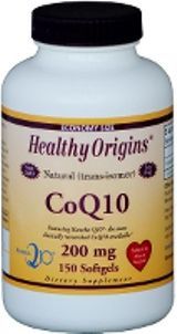 CoQ10 Gels 200mg (150 Gels) Healthy Origins