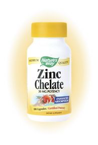Zinc Chelate 30mg (100 caps) Nature's Way