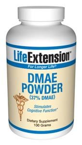 DMAE (dimethylaminoethanol) (100 grams powder)* Life Extension