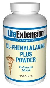 D,L-Phenylalanine Plus (with Vitamin C) (100 grams powder)* Life Extension