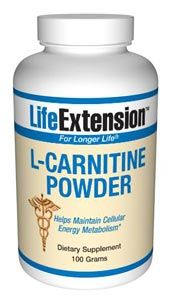 L-Carnitine Powder (100 grams)* Life Extension