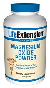 Magnesium Oxide (1 kg powder)* Life Extension