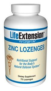 Zinc Lozenges (23 mg 75 lozenges)* Life Extension