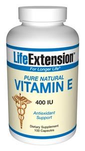 Natural Vitamin E (400 IU 100 v-caps)* Life Extension