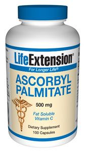 Ascorbyl Palmitate (500 mg, 100 caps)* Life Extension
