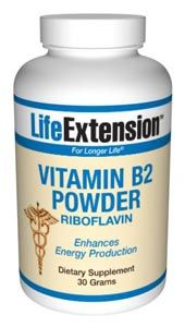 Vitamin B2 (30 grams powder)* Life Extension
