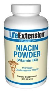 Niacin Powder (Vitamin B3) (300 grams powder)* Life Extension