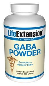 GABA Powder (Gamma-Amino Butyric Acid) (100 grams powder)* Life Extension