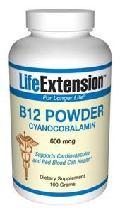 Vitamin B12 (cyanocobalamin) (100 grams powder)* Life Extension
