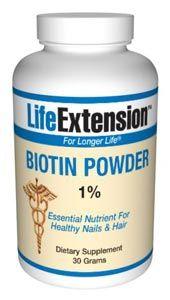 Biotin (30 grams powder)* Life Extension