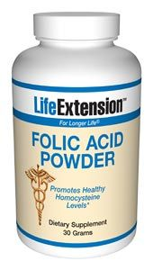 Folic Acid (30 grams powder)* Life Extension