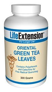 Oriental Green Tea Leaves (300 grams)* Life Extension