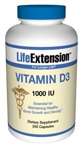 Vitamin D3 (1000 IU 250 capsules)* Life Extension