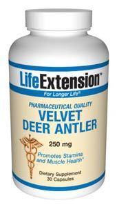 Velvet Deer Antler (250 mg 30 capsules)* Life Extension