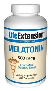 Melatonin (500 mcg 200 capsules)* Life Extension