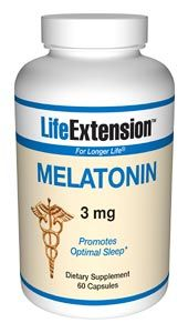 Melatonin (3 mg 60 capsules)* Life Extension