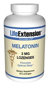 Melatonin (3 mg 60 lozenges (to be dissolved in the mouth))* Life Extension