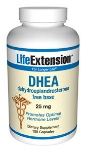 DHEA (Dehydroepiandrosterone) (25 mg 100 capsules)* Life Extension