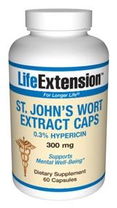 St John's Wort Extract (300 mg 60 capsules)* Life Extension