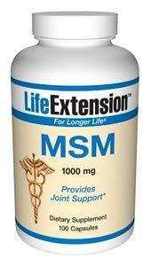 MSM (Methylsulfonylmethane) (1000 mg 100 capsules)* Life Extension