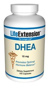 DHEA (Dehydroepiandrosterone) (15 mg 100 capsules)* Life Extension