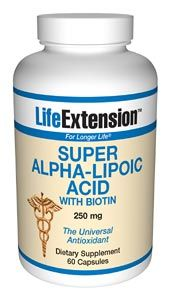 Super Alpha Lipoic Acid with Biotin (250 mg 60 capsules)* Life Extension