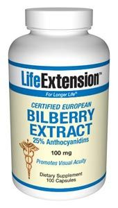 Bilberry Extract (100 mg, 100 caps)* Life Extension