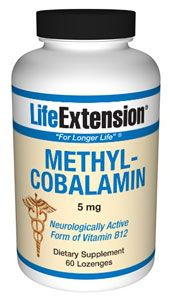 Methylcobalamin (5 mg 60 lozenges (to be dissolved in the mouth)* Life Extension