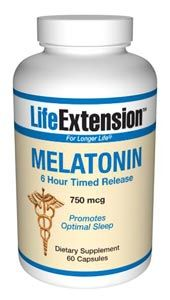 Melatonin (Time Release) (750 mcg 60 capsules)* Life Extension