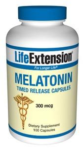 Melatonin Timed Release (300 mcg 100 capsules)* Life Extension