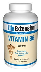Vitamin B6 (250 mg 100 capsules)* Life Extension