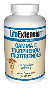 Gamma E Tocopherol/Tocotrienols (60 softgels)* Life Extension