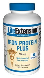 Iron Protein Plus (300 mg 100 capsules)* Life Extension