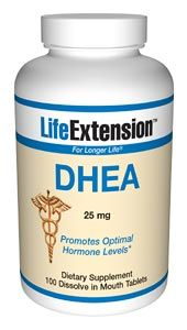 DHEA (dehydroepiandrosterone) (25 mg 100 dissolving tablets)* Life Extension