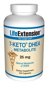 7-Keto DHEA (25 mg, 100 capsules)* Life Extension