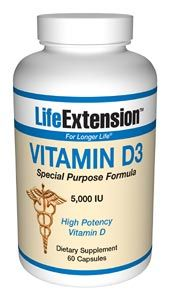 Vitamin D3 (5,000 IU 60 capsules)* Life Extension