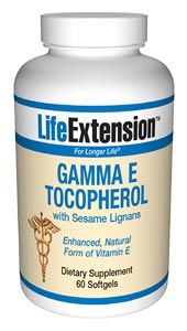Gamma E Tocopherol with Sesame Lignans (60 softgels)* Life Extension