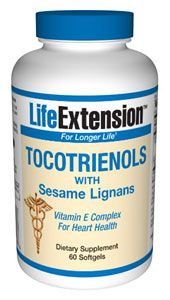 Tocotrienols with Sesame Lignans (60 softgels)* Life Extension