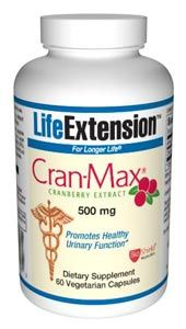Cran-max Cranberry Extract (500 mg 60 vegetarian capsules)* Life Extension