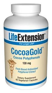CocoaGold Cocoa Polyphenols (60 vegetarian capsules)* Life Extension