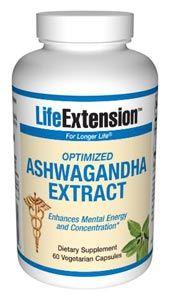 Optimized Ashwagandha Extract (stimulant free) (60 vegetarian capsules)* Life Extension