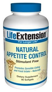 Natural Appetite Control |Stimulant Free Weight Loss (90 softgels)* Life Extension