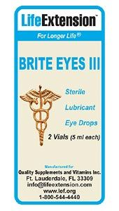 Brite Eyes III (2 vials, 5 ml each)* Life Extension