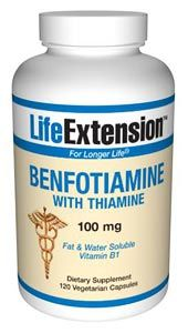Benfotiamine | with Thiamine (100 mg, 120 vcaps)* Life Extension