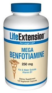 Mega Benfotiamine (250 mg 120 vegetarian capsules)* Life Extension