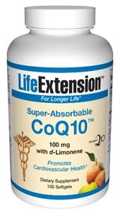 Super-Absorbable CoQ10 with d-Limonene (100 mg 100 softgels)* Life Extension