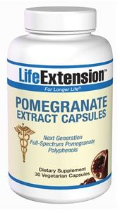 Pomegranate Extract Capsules (30 vegetarian capsules)* Life Extension