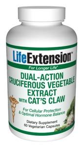 Dual-Action Cruciferous Vegetable Extract with Cat's Claw (60 vegetarian capsules)* Life Extension