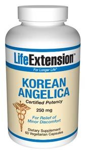 Korean Angelica (certified potency) (250 mg 60 vegetarian capsules)* Life Extension