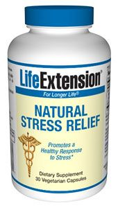 Natural Stress Relief (30 vegetarian capsules)* Life Extension